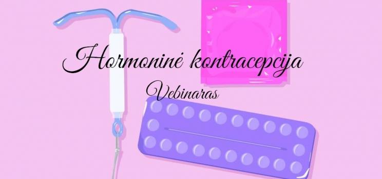 Vebinaras: hormoninė kontracepcija