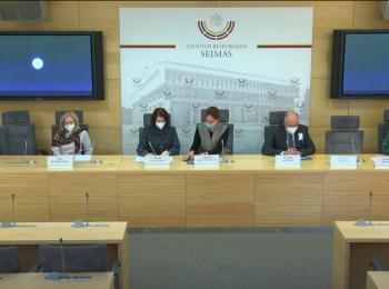 """Seimo spaudos konferencija """"Kodėl Lietuvoje jaunoms merginoms reikalinga efektyvi kontracepcija?"""""""