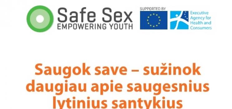 SafeSex: nauja Europos lytinio švietimo ir LPI prevencijos strategija