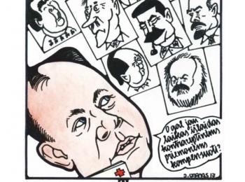"""Karikatūrų paroda """"Humoristiniai kontraceptikai – nemokami"""""""